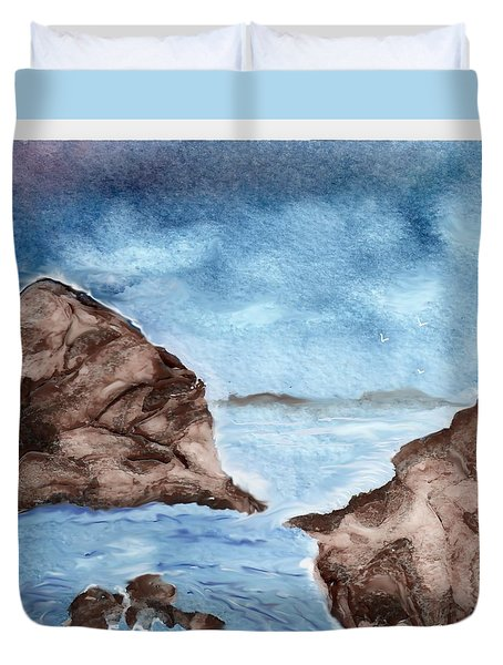 Otter Cove Duvet Cover by Beverly Johnson