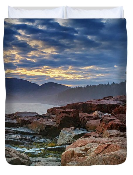 Otter Cove In The Mist Duvet Cover