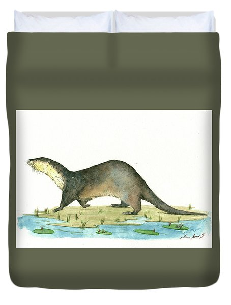 Otter Duvet Cover by Juan Bosco