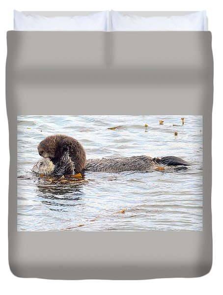 Otter Love Duvet Cover