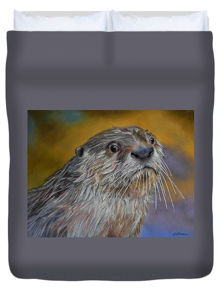 Otter Or Not Duvet Cover by Ceci Watson