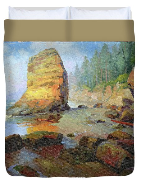 Otter Rock Beach Duvet Cover