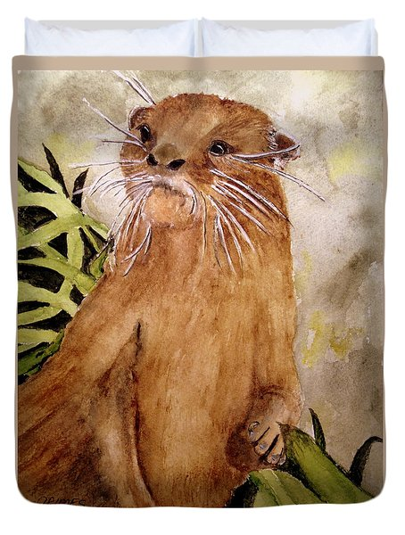 Otto The River Otter Duvet Cover