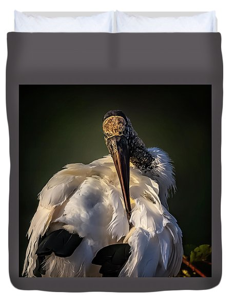 Ouch Duvet Cover by Cyndy Doty