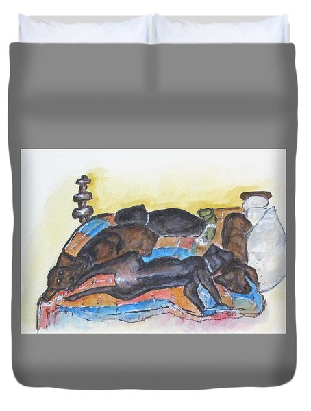 Our Bed Now Duvet Cover by Clyde J Kell