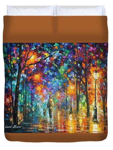Our Best Friend  Duvet Cover by Leonid Afremov