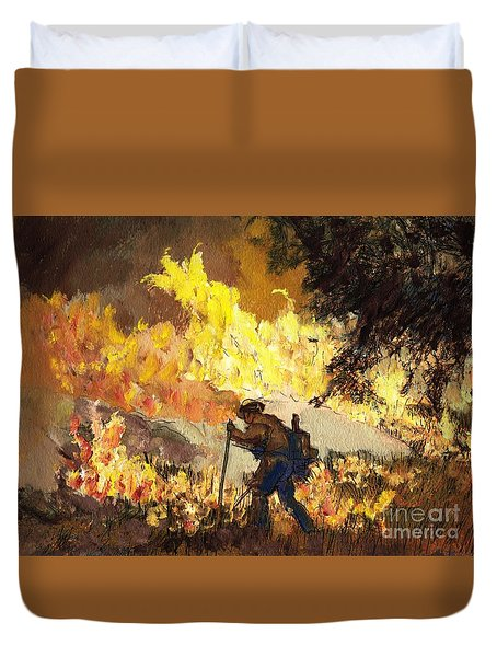 Our Heroes Tonight Duvet Cover