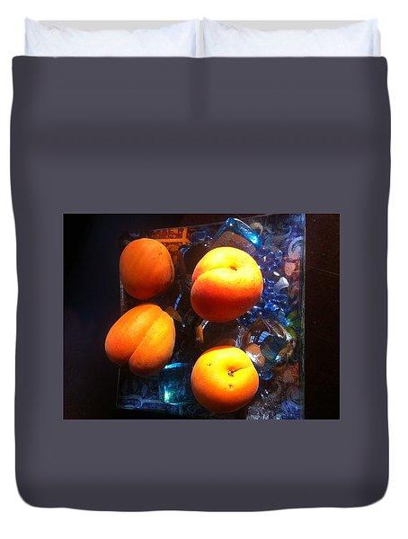 Our Juicy Apricots Duvet Cover