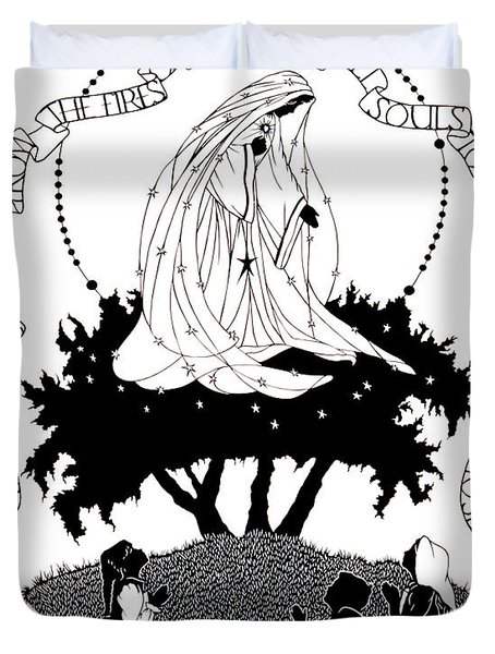 Our Lady Of Fatima - Dpolf Duvet Cover