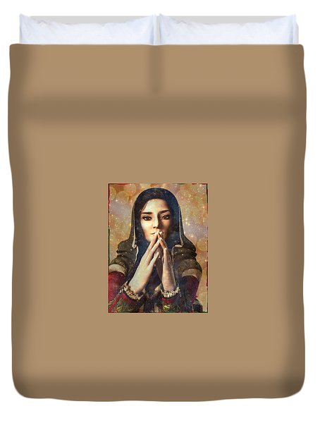 Our Lady Of Guadalupe Duvet Cover by Suzanne Silvir
