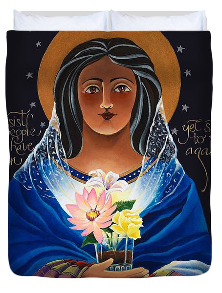 Our Lady Of Light - Help Of The Addicted - Mmlol Duvet Cover
