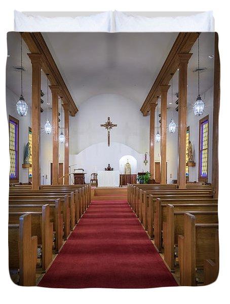 Our Lady Of Mount Carmel Duvet Cover