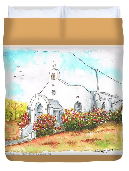 Our Lady Of Mount Carmel Catholic Church, Carmel,california Duvet Cover