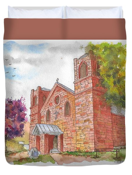 Our Lady Of Sorrow Catholic Church, Las Vegas, New Mexico Duvet Cover