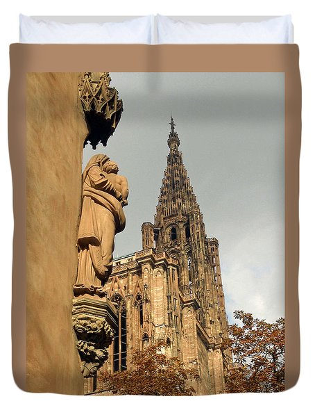 Our Lady Of Strasbourg Duvet Cover