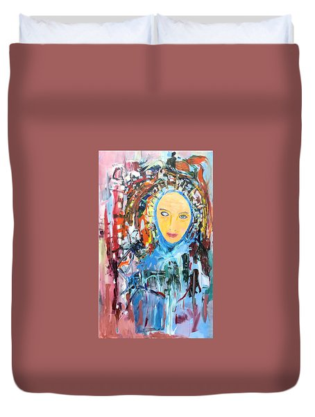Our Lady Of The Left Eye Duvet Cover