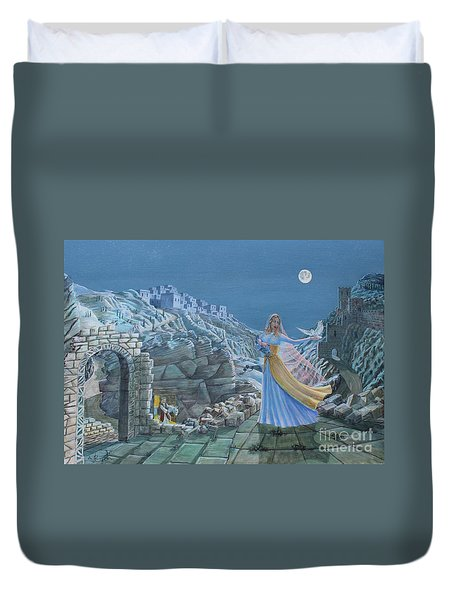Our Lady Queen Of Peace Duvet Cover