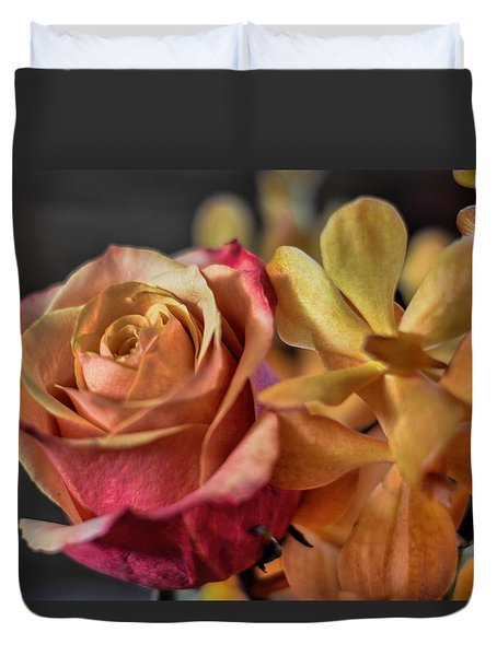 Duvet Cover featuring the photograph Our Passion by Diana Mary Sharpton