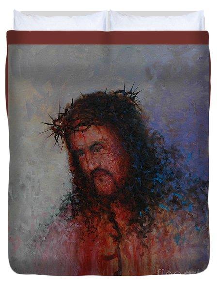 Our Precious Savior Duvet Cover by Michael Nowak