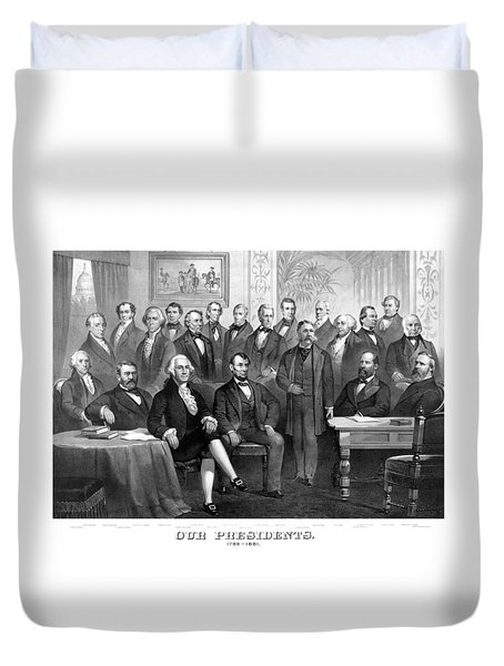 Our Presidents 1789-1881 Duvet Cover