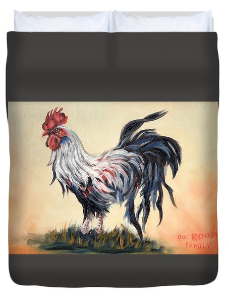 Our Rooster Family Duvet Cover