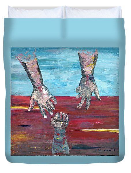 Our Sense Of Peace Is Only As Secure As Our Grasp Of Grace Duvet Cover