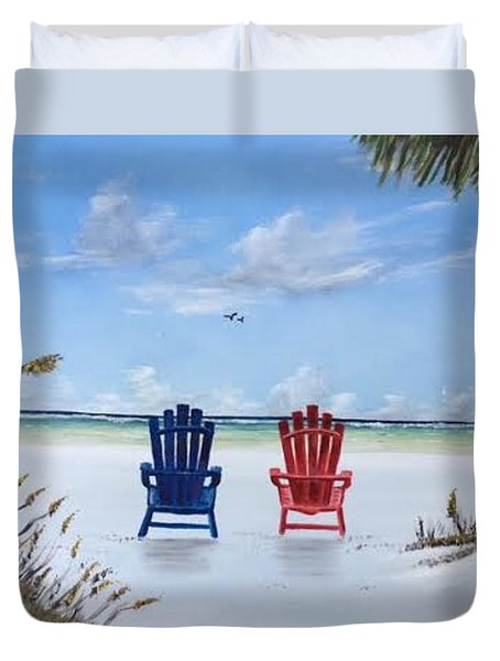 Our Spot On Siesta Key Duvet Cover