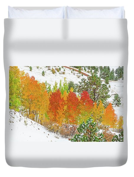Our Winter Begins Around Mid October.  Duvet Cover