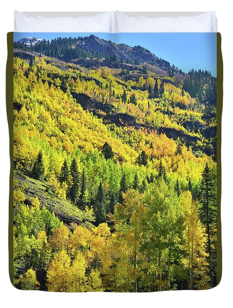 Duvet Cover featuring the photograph Ouray Canyon Switchbacks by Ray Mathis