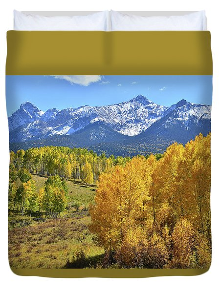 Duvet Cover featuring the photograph Ouray County Road 8  by Ray Mathis