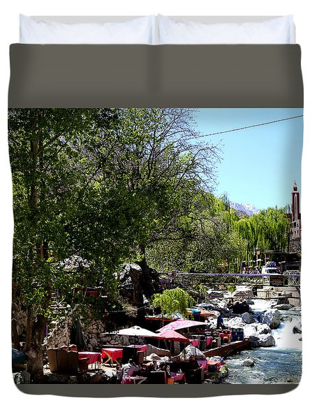 Duvet Cover featuring the photograph Ourika Valley 1 by Andrew Fare