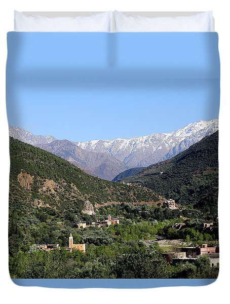 Duvet Cover featuring the photograph Ourika Valley 2 by Andrew Fare