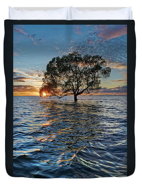 Out At Sea Duvet Cover