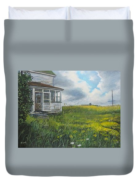 Out Back Duvet Cover