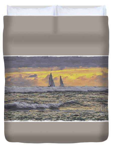 Out Beyond The Breakers Duvet Cover