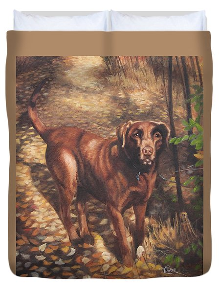 Out For A Walk #2 Duvet Cover