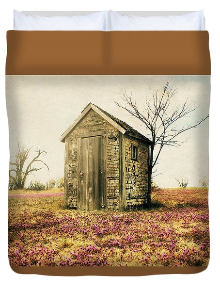 Duvet Cover featuring the photograph Outhouse by Julie Hamilton