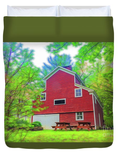 Out In The Country Duvet Cover
