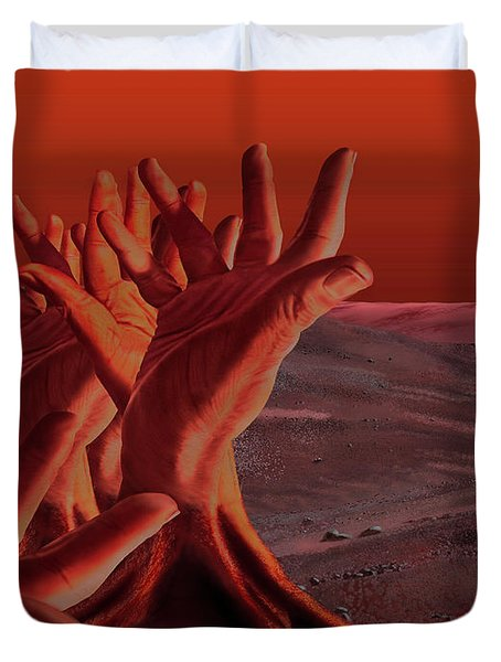 Out Of Hand Duvet Cover