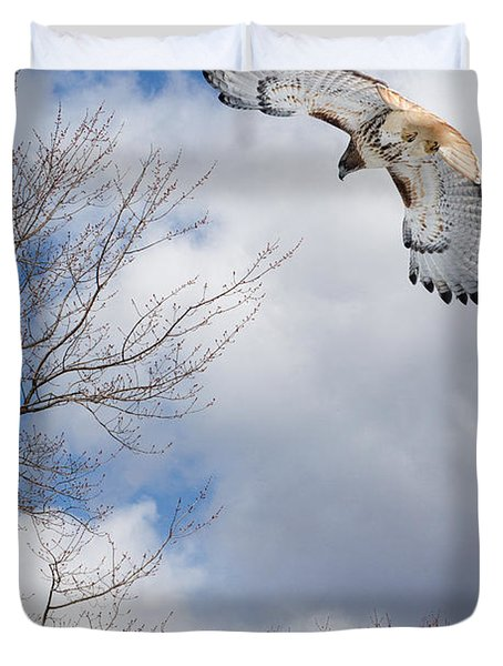 Out Of The Blue Duvet Cover by Bill Wakeley