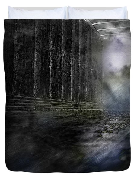 Out Of The Storm Duvet Cover by Gray  Artus