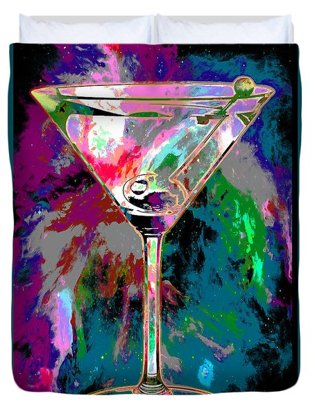 Out Of This World Martini Duvet Cover by Jon Neidert