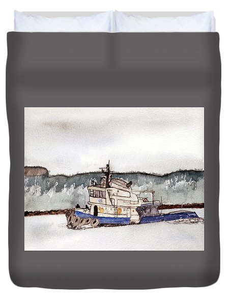 Out On The Bay Duvet Cover by R Kyllo
