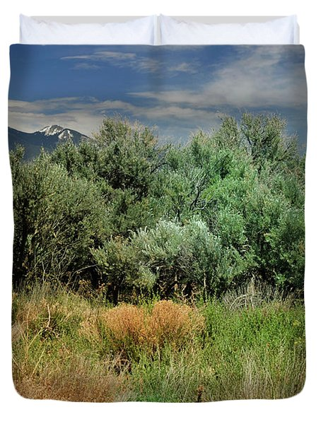 Duvet Cover featuring the photograph Out On The Mesa 1 by Ron Cline