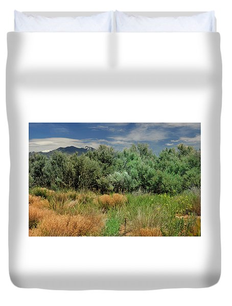 Out On The Mesa 1 Duvet Cover