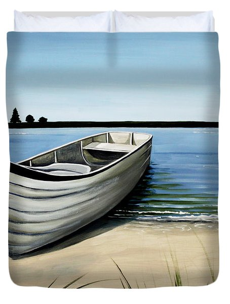 Out On The Water Duvet Cover