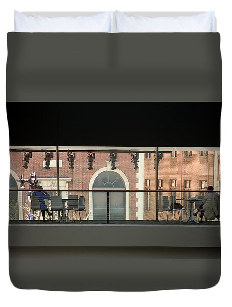 Out The Windows Duvet Cover