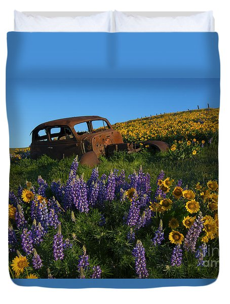 Out To Pasture Duvet Cover