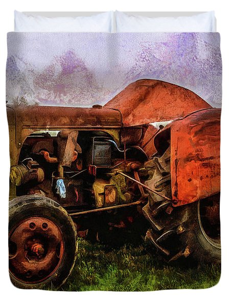 Duvet Cover featuring the photograph Put Out To Pasture by Thom Zehrfeld
