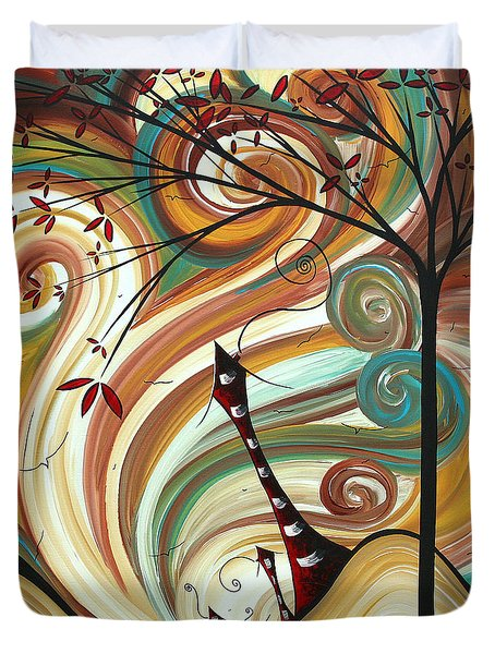 Out West II By Madart Duvet Cover by Megan Duncanson